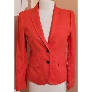 J. Crew Schoolboy Blazer Orange Linen Jacket